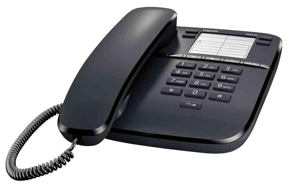Teléfono sobremesa básico Gigaset DA310 (negro)