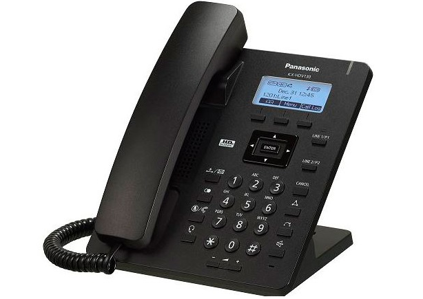 Teléfono SIP Panasonic KX-HDV130 (negro)