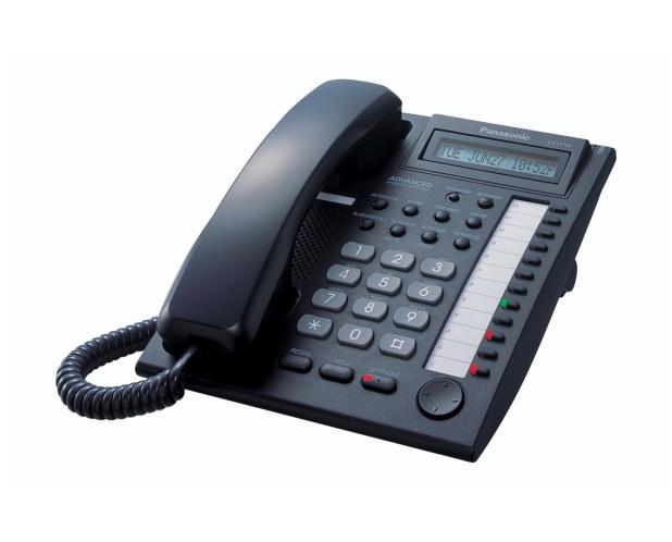 -Teléfono Específico Operadora Analógico KX-T7730 (negro)