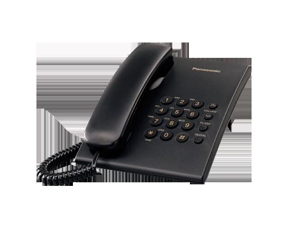 Telefono analogico Panasonic KX-TS500 (negro)