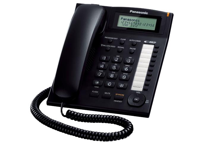 -Teléfono Panasonic con display/manos libres KX-TS880 (negro)