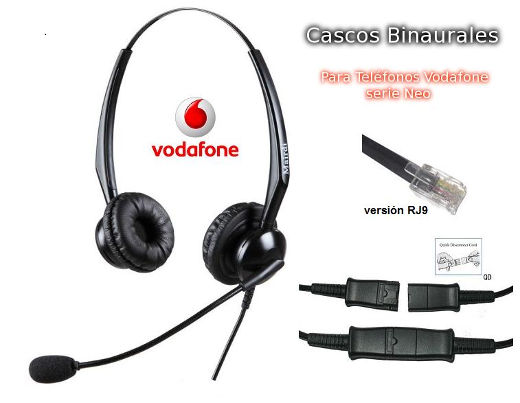 Cascos Binaural Específicos para Telefonos Vodafone Neo RJ9