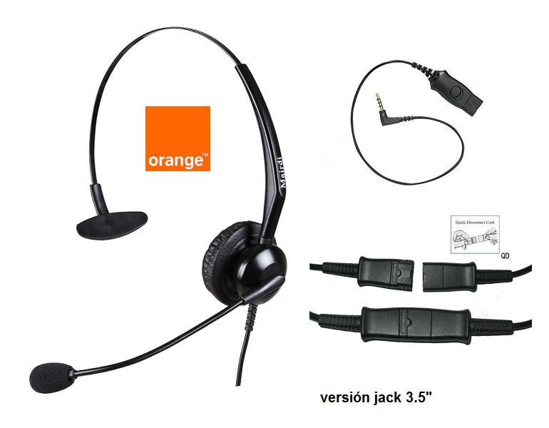 """-Cascos Específicos para Telfs. Orange con Jack 3.5"""""""