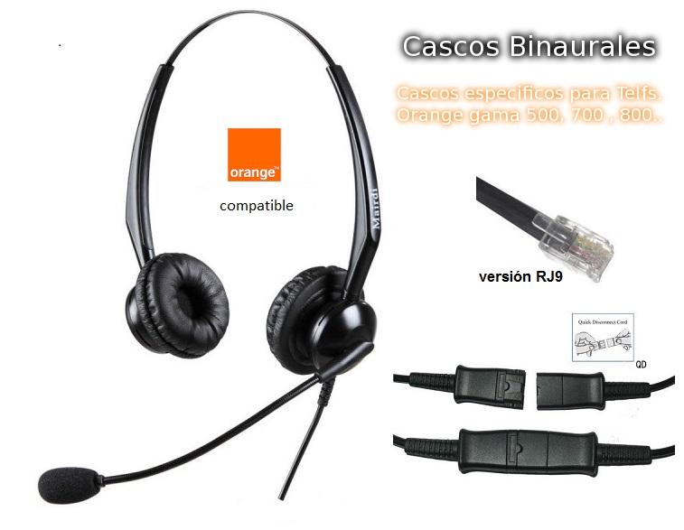 Cascos Binaural Específicos para Telefonos Orange QD/RJ9
