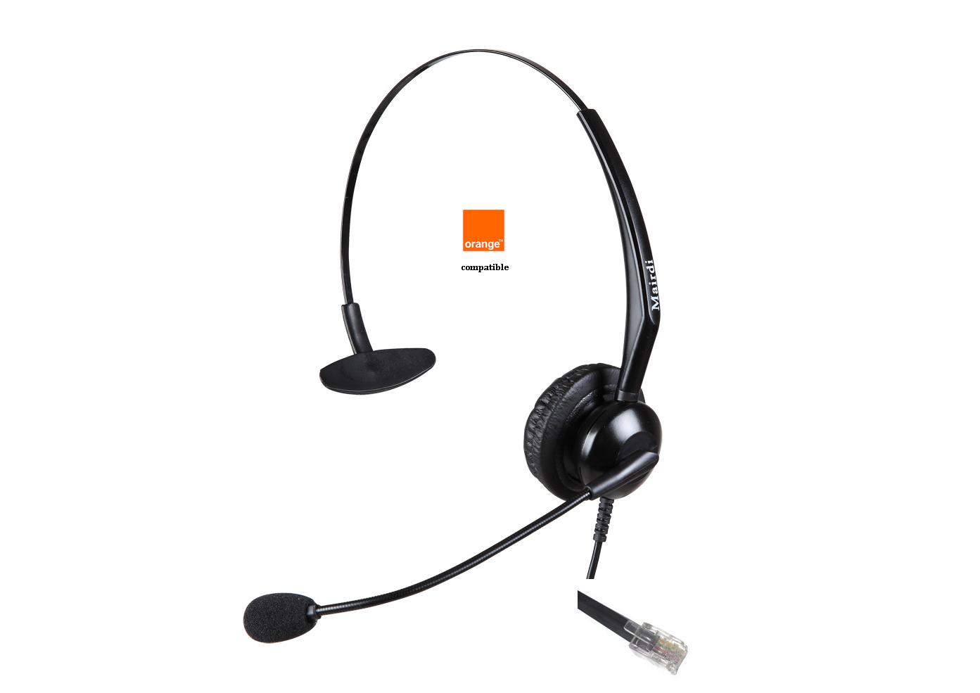 -Cascos Específicos para Telefonos GSM Orange RJ9