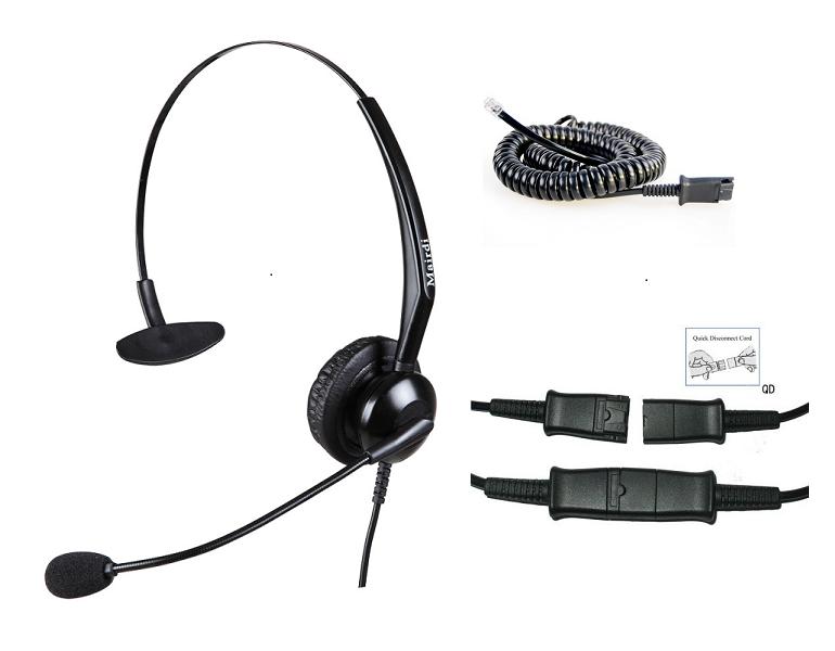 -Cascos para Telefonos Fijos con Cable QD