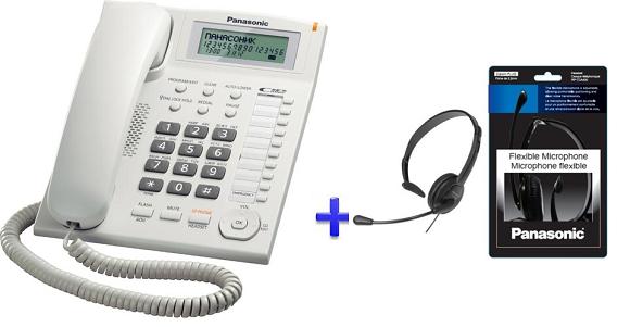Panasonic Feature Phone With Plantronics Headsets Kx Ts880 Rptca Panafonic