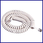 Coiled Telephone Cord for handset ivory